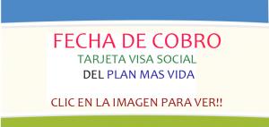 Fecha de cobro Tarjeta visa social OCTUBRE 2016